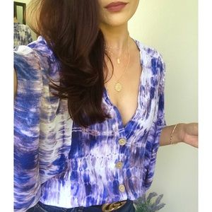 🆕 SKYLER Tie Dye Kimono Sleeve Top